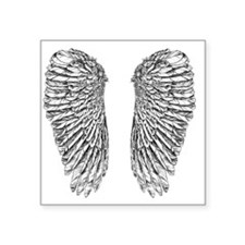 "Angel Wings Square Sticker 3"" x 3"""