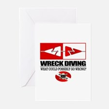 Wreck Diving (Line Markers)2 Greeting Cards