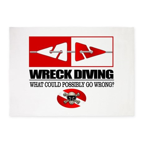 Wreck Diving (Line Markers)2 5'x7'Area Rug