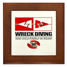 Wreck Diving (Line Markers)2 Framed Tile