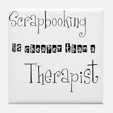 therapist Tile Coaster
