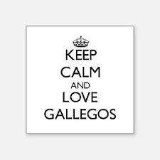 Keep calm and love Gallegos Sticker