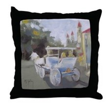 Carriage Ride Sightseeing Throw Pillow
