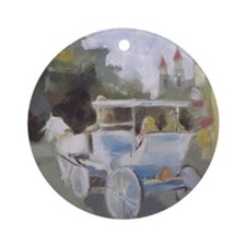Carriage Ride Sightseeing Ornament (Round)