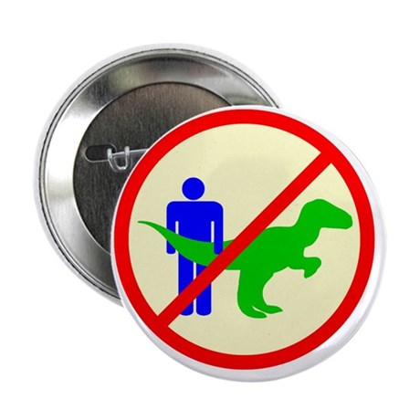 """man dinosaur shirt 2.25"""" Button"""