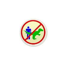 man dinosaur shirt Mini Button