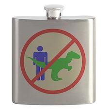 man dinosaur shirt Flask