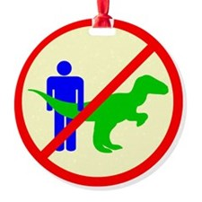 man dinosaur shirt Ornament