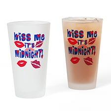 Kiss Me It's Midnight! Drinking Glass