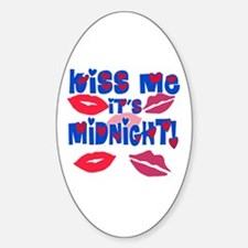 Kiss Me It's Midnight! Decal