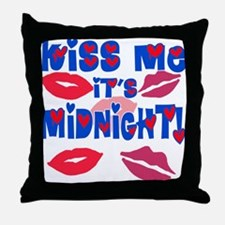 Kiss Me It's Midnight! Throw Pillow