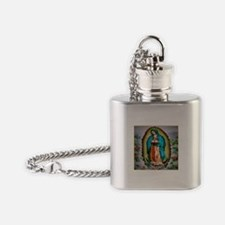 Our Lady of Guadalupe Flask Necklace