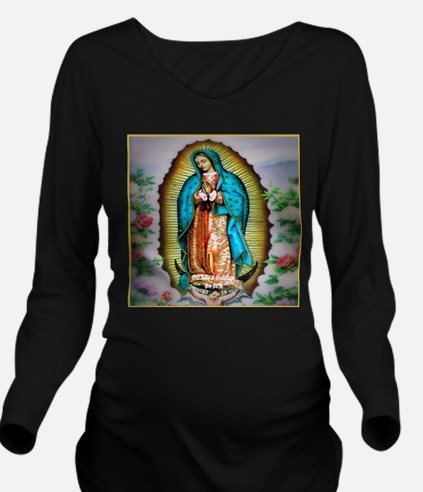 Our Lady of Guadalup Long Sleeve Maternity T-Shirt
