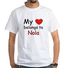 My heart belongs to nola Shirt
