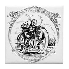 Vintage Motorcycle Tile Coaster
