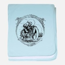 Vintage Motorcycle baby blanket