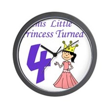 Little Princess Is 4 Wall Clock