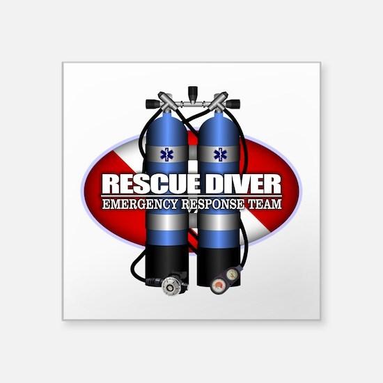 Resuce Diver (Scuba Tanks) Sticker