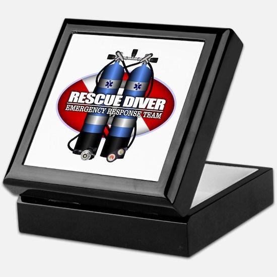 Resuce Diver (Scuba Tanks) Keepsake Box