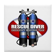 Resuce Diver (Scuba Tanks) Tile Coaster