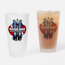 Resuce Diver (Scuba Tanks) Drinking Glass