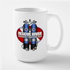 Resuce Diver (Scuba Tanks) Mugs