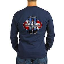 Resuce Diver (Scuba Tanks) Long Sleeve T-Shirt