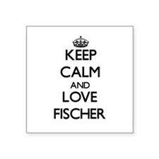 Keep calm and love Fischer Sticker