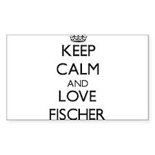Keep calm and love Fischer Bumper Stickers