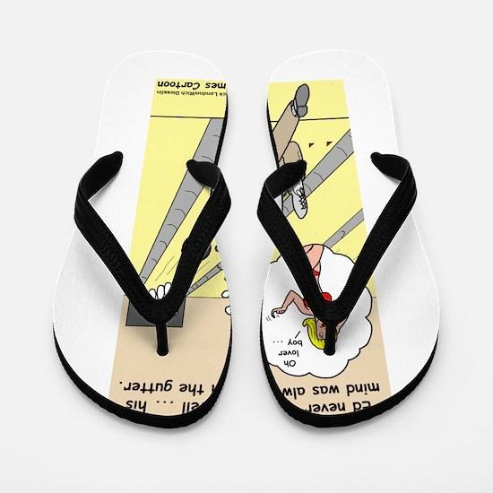 Mind in the Gutter Flip Flops