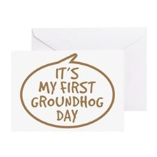 Babys First Groundhog Day Greeting Card