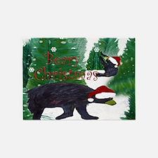 Beary Santa Christmas 5'X7'area Rug