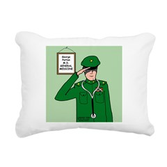 General Medicine Rectangular Canvas Pillow