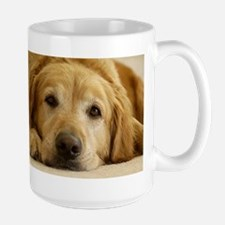 Large Golden Retriever Mug: Need Morning Coffee!