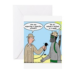 Gas Mask Greeting Cards (Pk of 20)