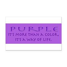 Unique Purple Rectangle Car Magnet