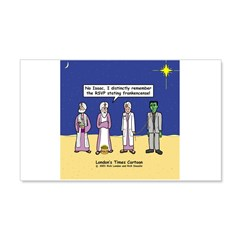Wise Men and Frankenstein 20x12 Wall Decal