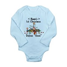 Personalize My First Christmas (Name) Long Sleeve