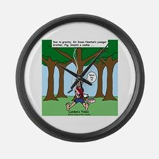 Isaac Newtons Brother Fig Large Wall Clock
