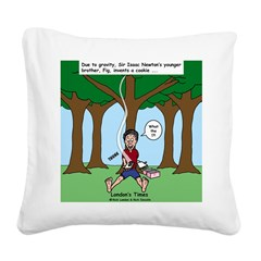 Isaac Newtons Brother Fig Square Canvas Pillow