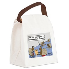 Snail Orders Escargot Canvas Lunch Bag