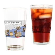 Snail Orders Escargot Drinking Glass