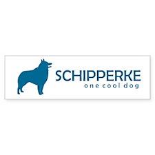 """Schipper """"One Cool Dog"""" Bumper Bumper Sticker"""
