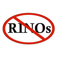 No RINOs Oval Decal