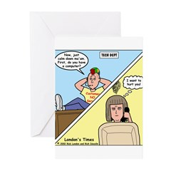 Customer No Service Greeting Cards (Pk of 10)