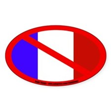 Anti-France Oval Decal