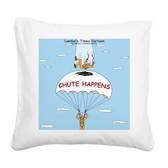 Chute Happens Square Canvas Pillow
