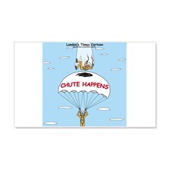 Chute Happens 20x12 Wall Decal