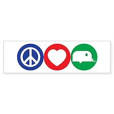 Peace, Love and Vintage Trailers Bumper Bumper Sticker