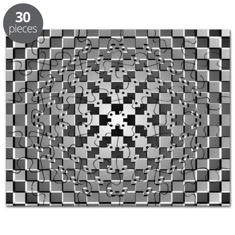 3D Checkered Optical Illusions Puzzle